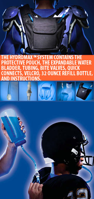 Hydromax on football pads